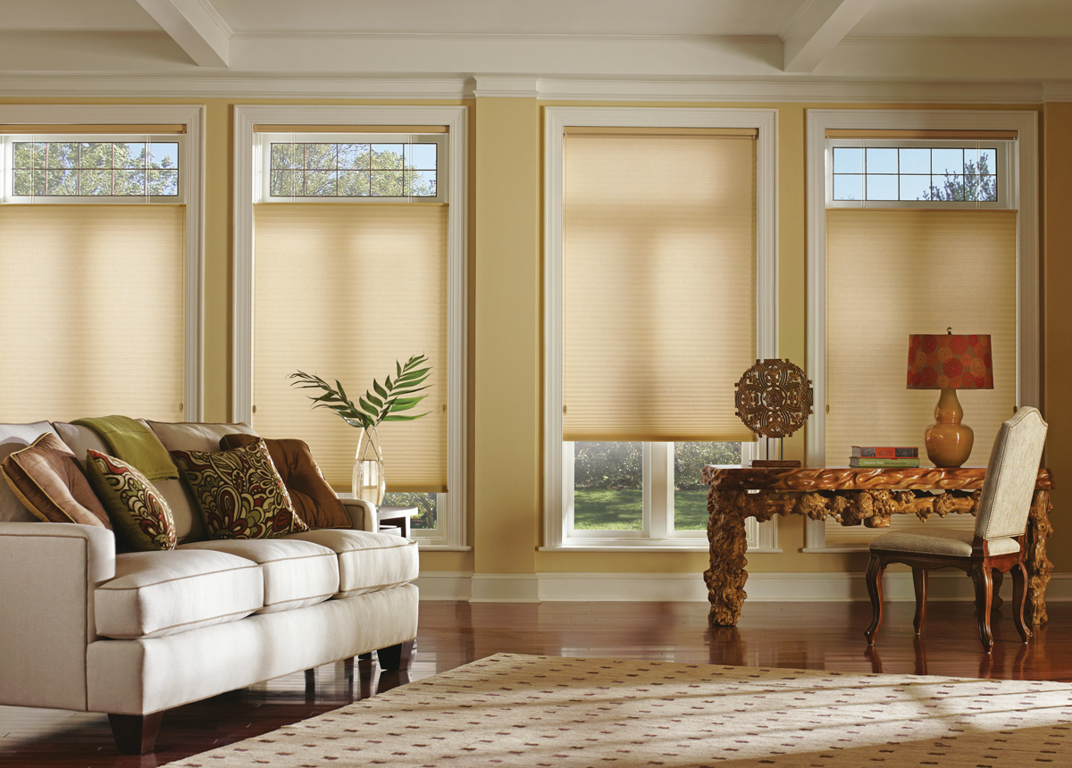 Shades heritage wallpaper blinds - Living room picture window treatments ...